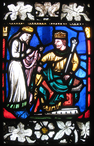 Medieval Stained Glass Image (279K)